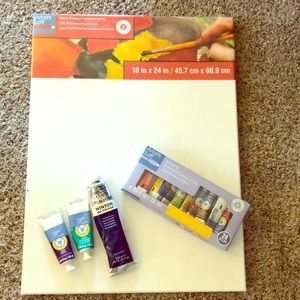 COPY - Painters Blank New Canvas & Used oil Paint…